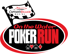 Captain's Village Marina On the Water Poker Run Logo Design