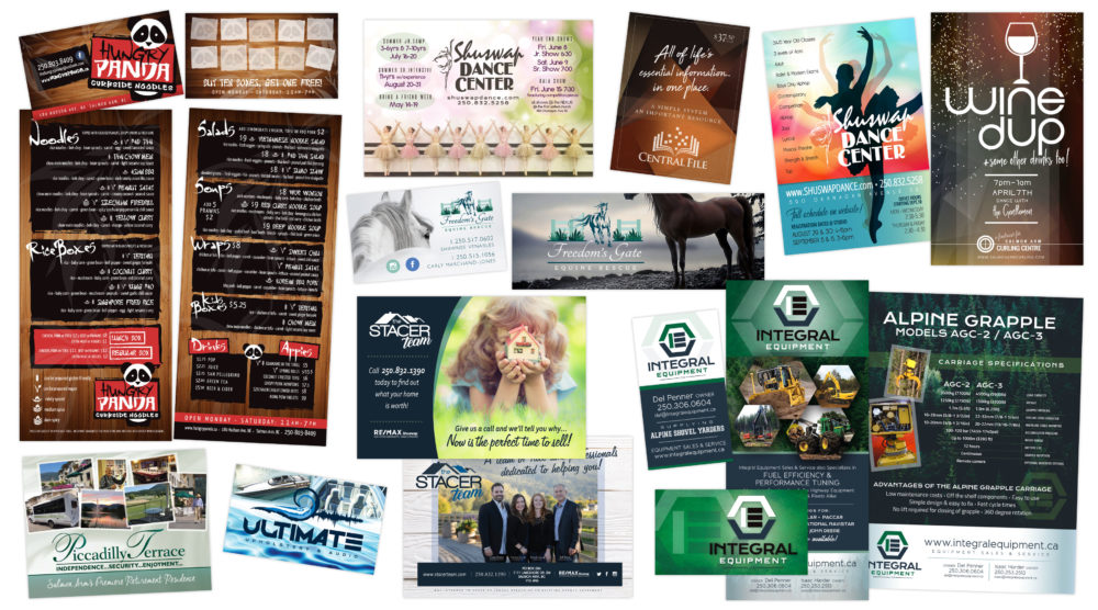 Perimeter Design - Print Design (Business Cards, Rack Cards, Posters, Ads) Collage