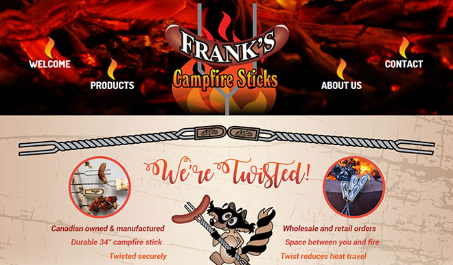 frankscampfiresticks.com