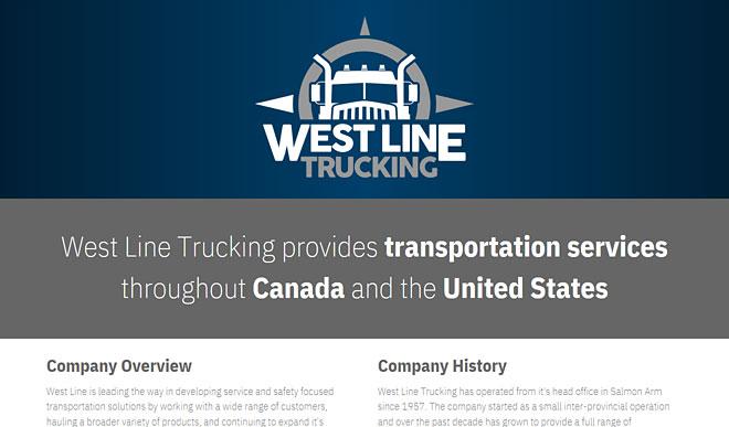westlinetrucking.com